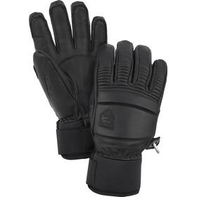 Hestra Leather Fall Line 5 fingerhandsker, sort